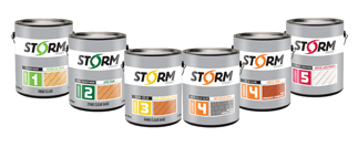 cans of Storm System finishes