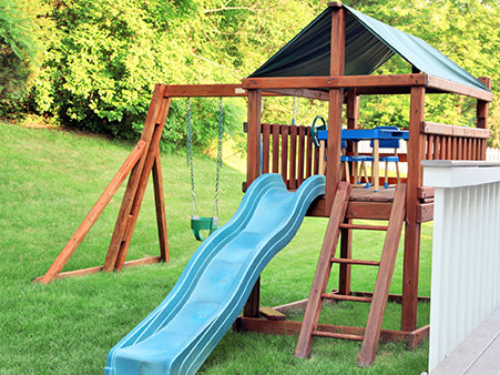 Wooden Playsets Storm SystemStorm System - Wood backyard playsets
